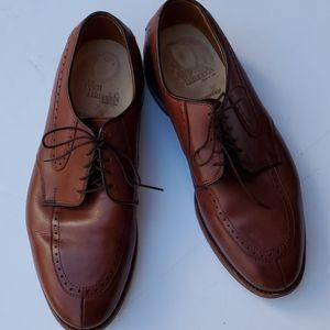 Allen Edmonds Kingsley brown lace up men's 10 EEE